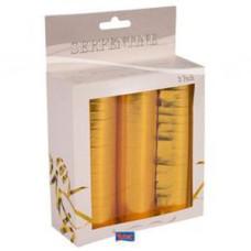 Metál szerpentin csomag - 3 db-os (arany és ezüst)