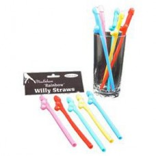 Color Willy Straw Hen Party 10pcs