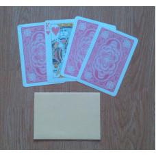 Borítékos kártya nagy lapokkal