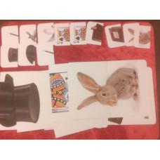 Fél lapos kártyatrükk bűvész szimbólumokkal